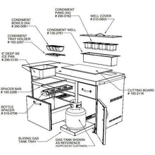 Load image into Gallery viewer, Alfresco Deluxe Pizza Oven Prep Cart - Indigo Pool Patio BBQ