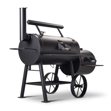 Yoder Loaded Wichita Offset Smoker - Indigo Pool Patio BBQ