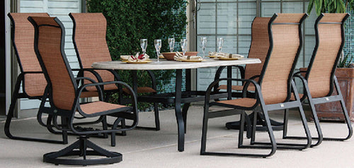 Furniture Englewood Florida outdoor table and chairs - Indigo Pool Patio BBQ