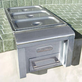 Food Warmer and Steam Table for Outdoor Kitchen - Indigo Pool Patio BBQ - Englewood FL