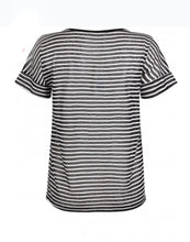 Load image into Gallery viewer, TRAMONTANA T-SHIRT STRIPES SWEAT MIX BLACK