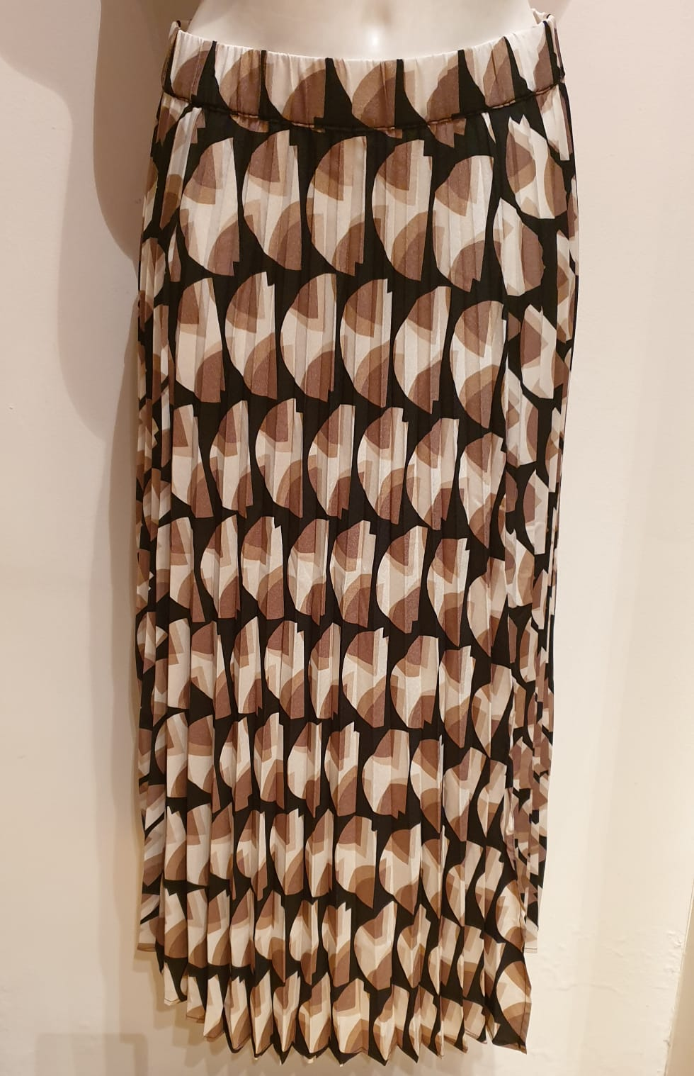 FREEQUENT SKIRT WOVEN BEIGE SAND