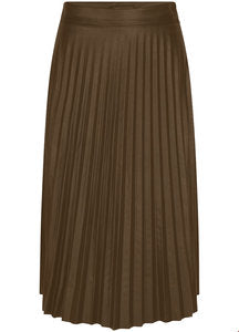 TRAMONTANA SKIRT PLEATS PU DARK OLIVE