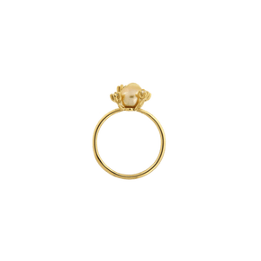 Anello con perla keshi dorata South Sea <br /> &quot;Non so che; <br /> Oro Fairtrade 750