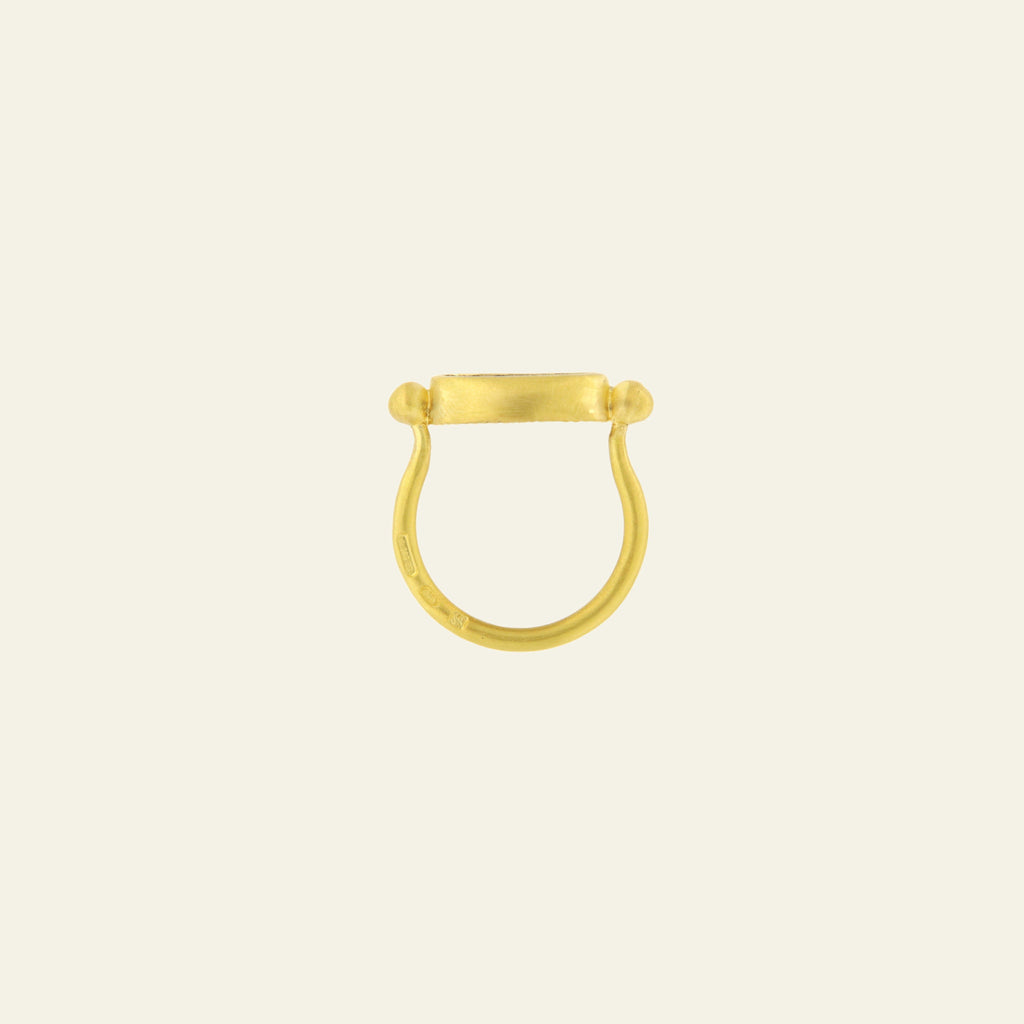 Anello Per Me <br /> Esemplare N.5<br /> Opale tracciabile dal Central Queensland <br /> Oro Fairtrade 22k
