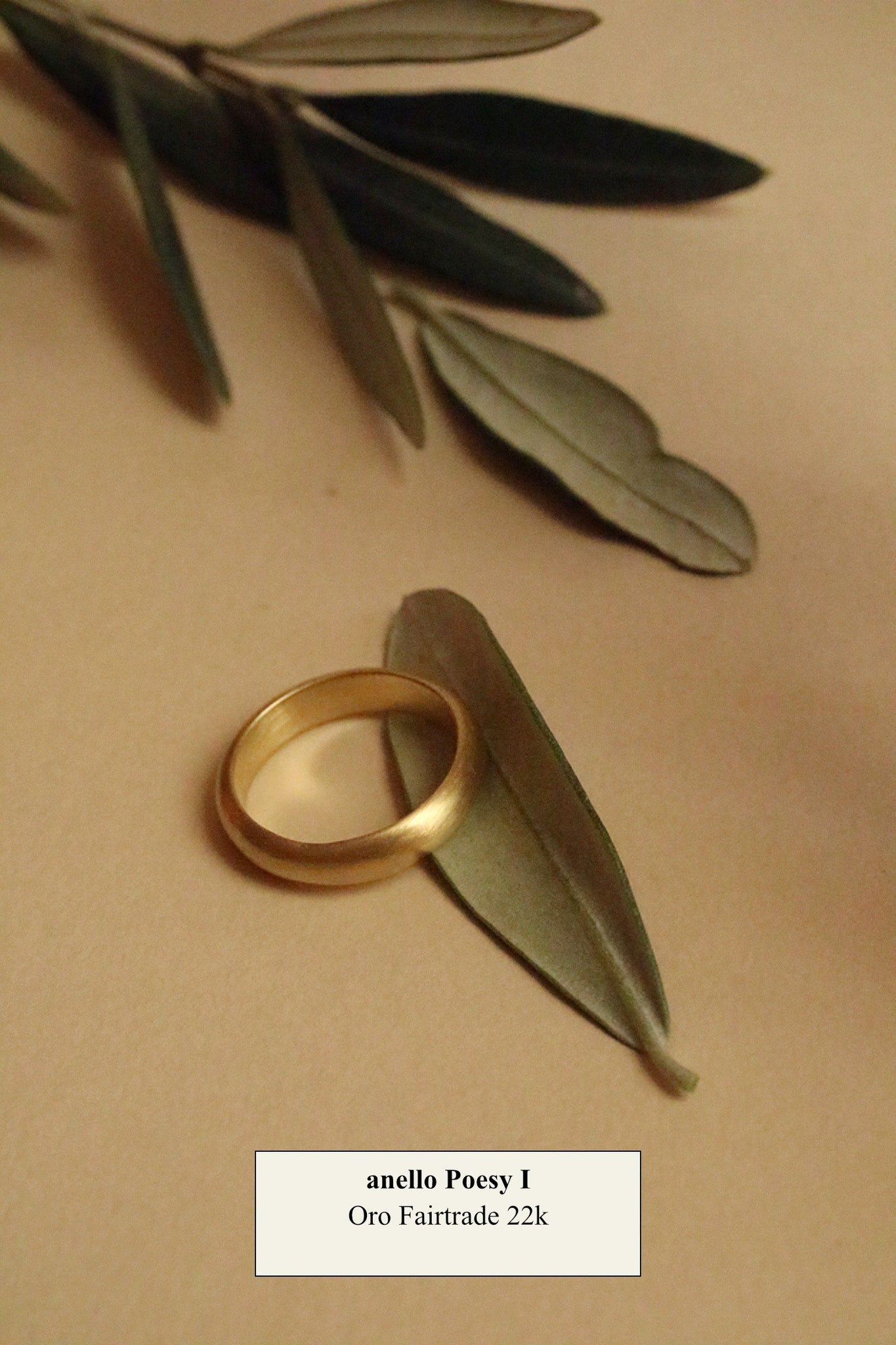 Anello Poesy I <br /> Oro Fairtrade 22k