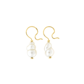 Orecchini Cielo <br /> esemplare N.19 <br /> Perle South Sea <br /> Oro Fairtrade 18k