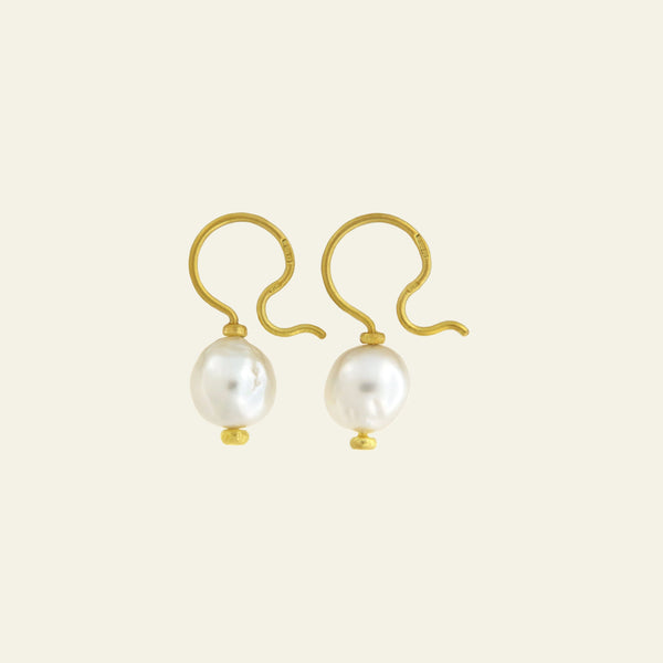 Orecchini Cielo <br /> esemplare N.17 <br /> Perle South Sea <br /> Oro Fairtrade 22k