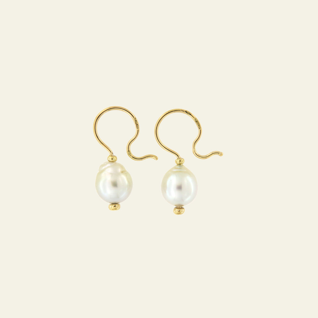 Orecchini Cielo <br /> esemplare N.27 <br /> Perle South Sea <br /> Oro Fairtrade 18k