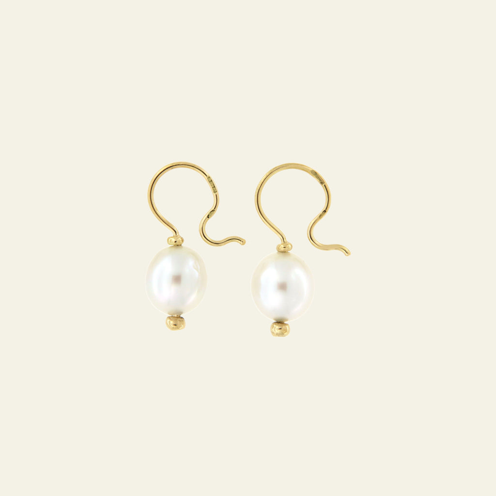 Orecchini Cielo <br /> esemplare N.29 <br /> Perle South Sea <br /> Oro Fairtrade 18k