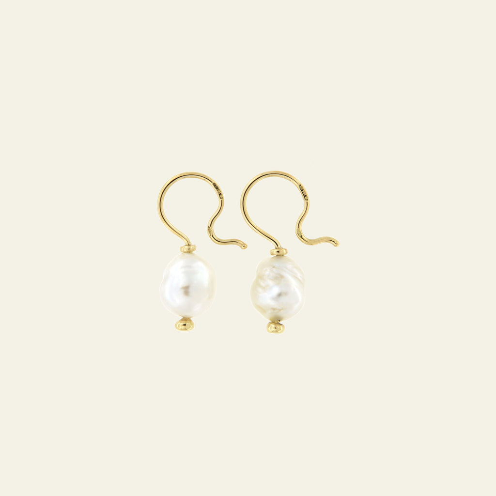 Orecchini Cielo <br /> esemplare N.34 <br /> Perle South Sea <br /> Oro Fairtrade 18k