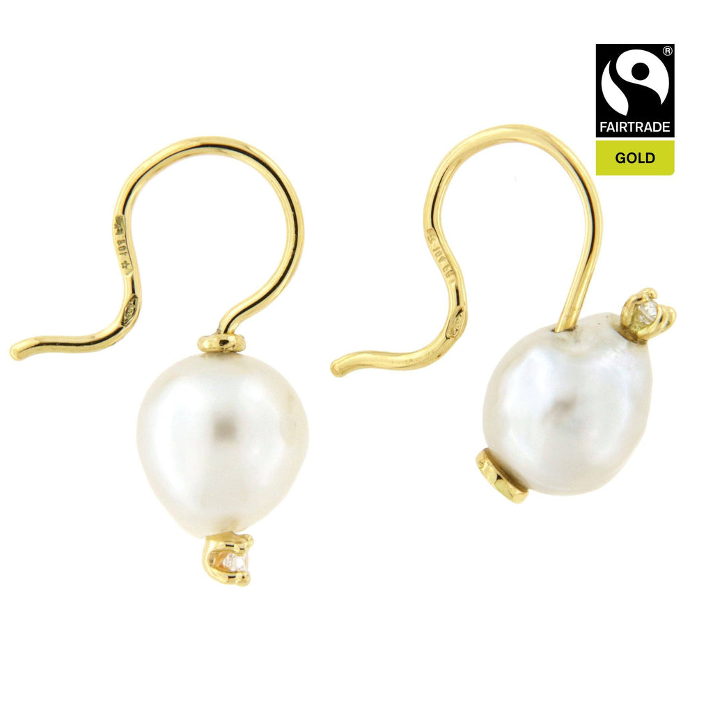 Orecchini Cielo  Stellato<br /> Perle South Sea <br /> Oro Fairtrade 18kt