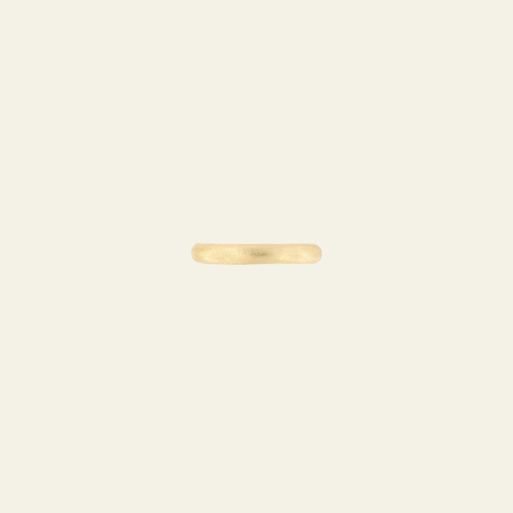 Anello Poesy di 3 mm <br /> finitura di velluto <br /> Oro Fairtrade 18k  <br />