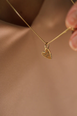 Ciondolo <br /> &quot;Heart of Gold&quot; <br /> Oro Fairtrade 750