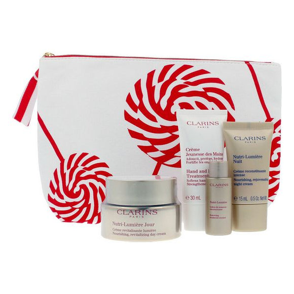 Unisex Cosmetic Set Nutri Lumiere Clarins All skin types (4 Pieces)