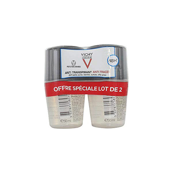 Roll-On Deodorant Homme Deo Vichy (2 pcs)
