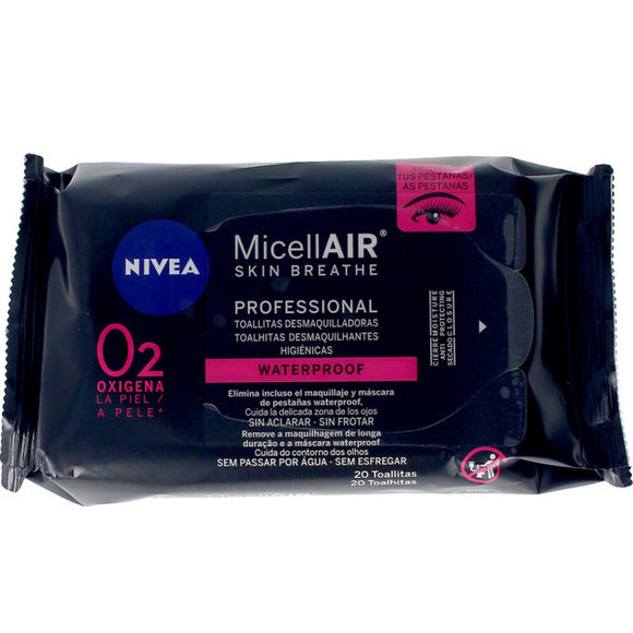 Make Up Remover Wipes MicellAir Profesional Nivea (20 uds)