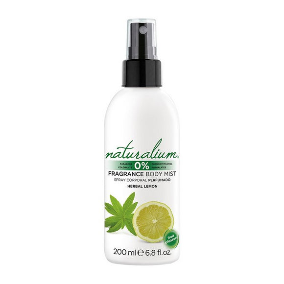 Body Mist Herbal Lemon Naturalium (200 ml)