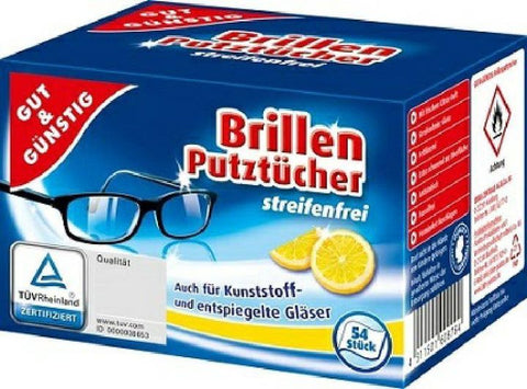 Gut & Gunstig Brillen Putztucher 54 шт.
