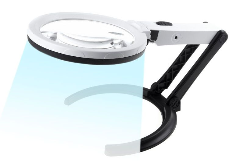 Magnifier foldable neck transforms