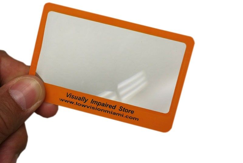 Fresnel Card Magnifier - Low Vision Miami