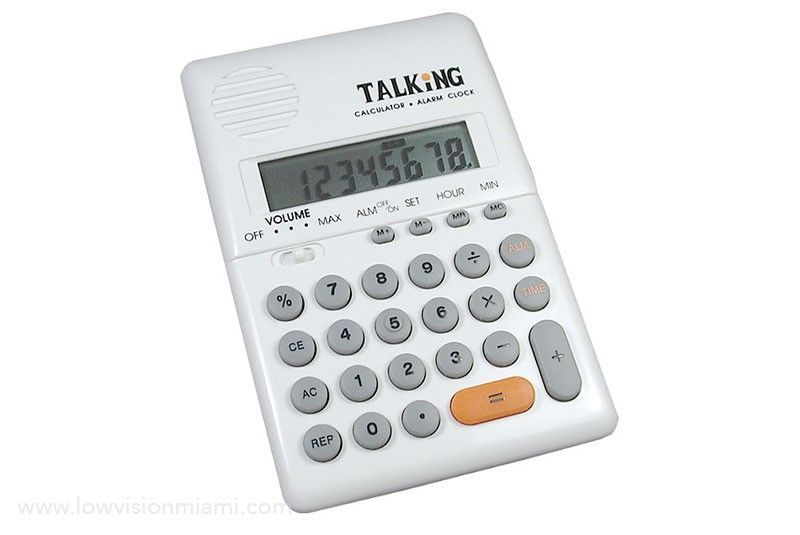 Talking Calculator with Alarm- Spanish Voice