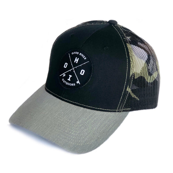 Good River Camo Mesh Trucker Hat