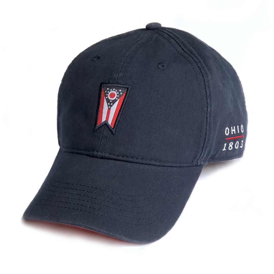 Ohio Flag Hat - Navy Cotton Twill