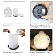 Load image into Gallery viewer, Ultrasonic Glass Aroma Diffuser