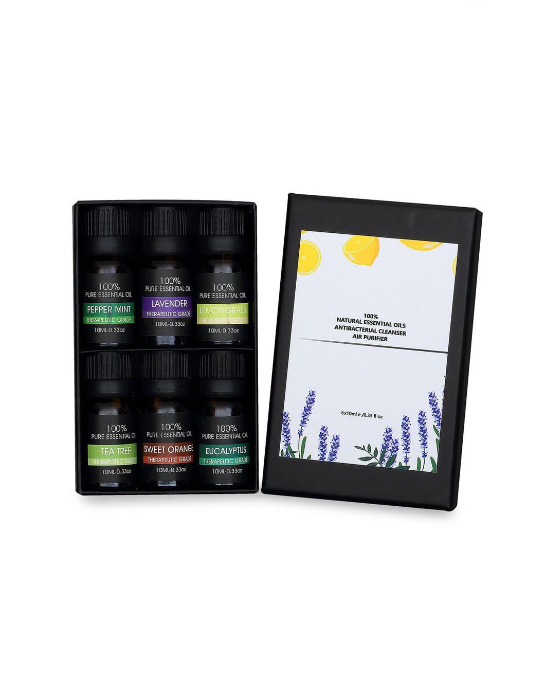 ESSENTIAL OILS - 6 SCENT PACK - 100% NATURAL