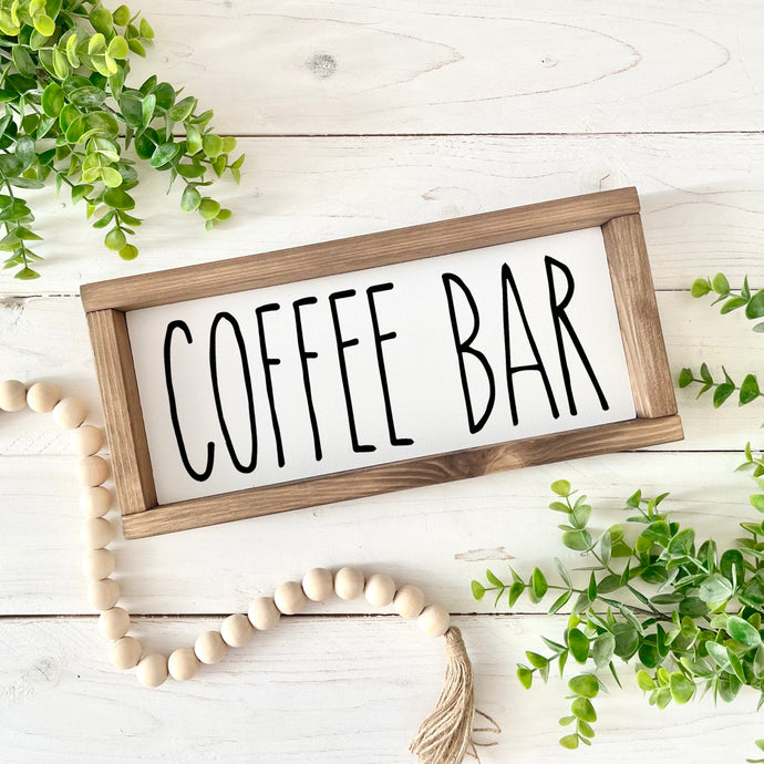 Coffee Bar Farmhouse Holzschild | FarmCharme