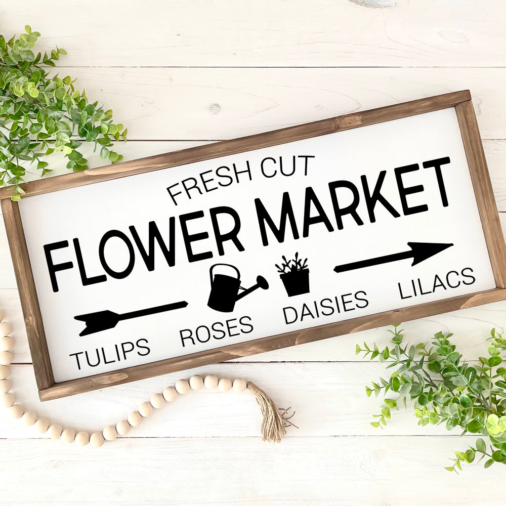 Flower Market Farmhouse Holzschild | FarmCharme