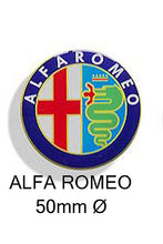 Load image into Gallery viewer, Alfa Romeo Resin wheel centre car badges