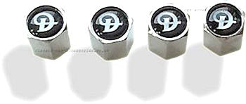 Tyre valve dust caps with Daimler motif - CXB08251