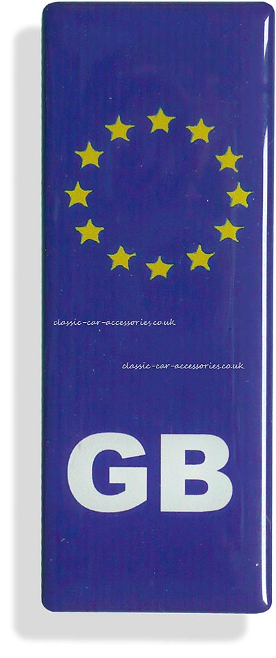 European badge with GB - CXB013