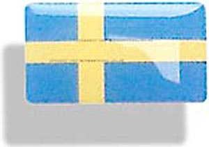 Resin encapsulated flag of Sweden 47 x 27mm - CXB02372