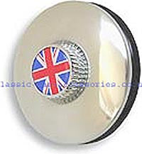 Tax disc holder with Chrome knob recessed to take motif. (Not included)  - CXW01