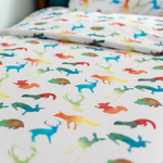 Colourful Animals Toddler Bed/Cotbed Duvet Cover and Pillow Case Set | The Gilded Bird | Toddler Duvet Sets | Buy Toddler Duvet Sets Online