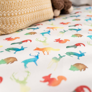 Colourful Animals Fitted Cot Sheet