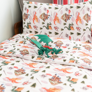 Dragon and Castle Toddler Bed/Cotbed Duvet Cover and Pillow Case Set | The Gilded Bird | Toddler Duvet Sets | Buy Toddler Duvet Sets Online