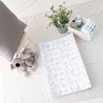 Lovely Leaves Grey Anti Roll Wedge Mat | The Gilded Bird | Baby Changing Mats | Buy Changing Mats Online | Buy Wedge Mats