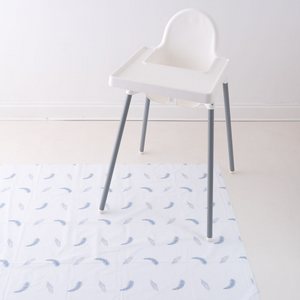 Boho Feathers Blue Splash Mat | The Gilded Bird | Baby Changing Mats | Buy Changing Mats Online | Buy Splash Mats | Splash Mats