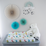 Colourful Animals Anti Roll Wedge Mat | The Gilded Bird | Baby Changing Mats | Buy Changing Mats Online | Buy Wedge Mats