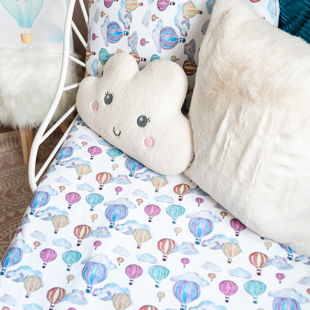 Balloon Festival Toddler Bed/Cotbed Duvet Cover and Pillow Case Set | The Gilded Bird | Toddler Duvet Sets | Buy Toddler Duvet Sets Online