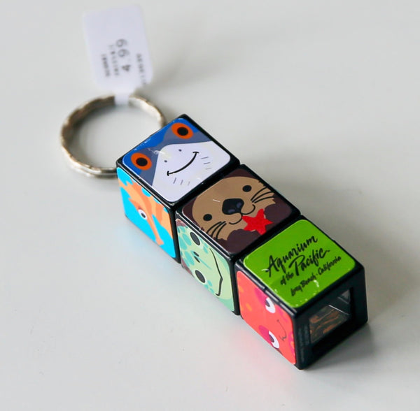 SQUARE FACES KEY CHAIN PUZZLE CUBE