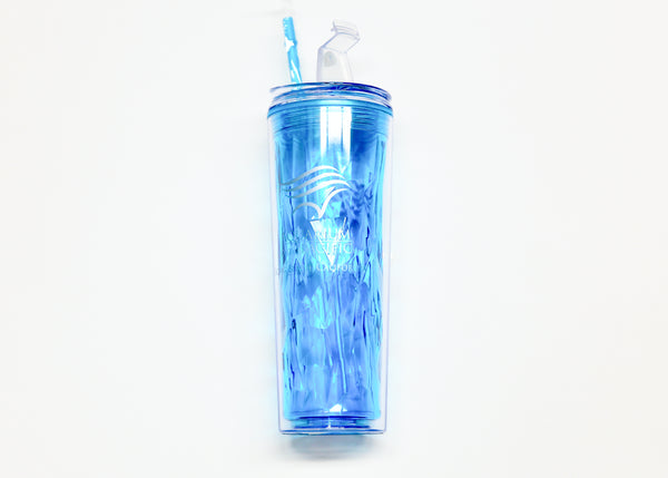 Aqua Wave Logo Cup with Straw