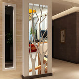 Modern Mirror Style Removable Decal Tree Art Mural Wall Sticker