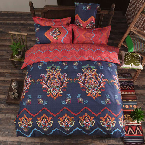 Retro Flower Printing Bedding Sets Comforter
