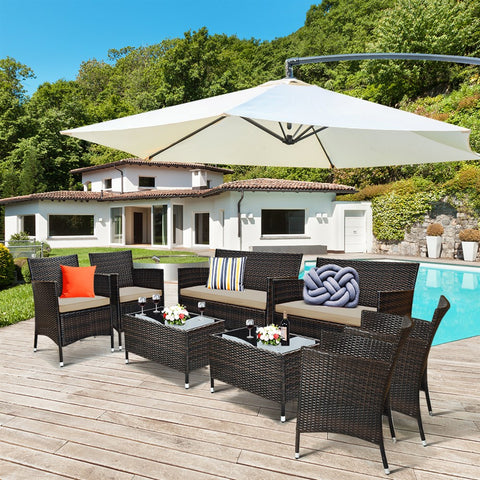 8PC Patio Furniture Set