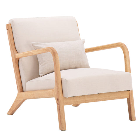 Oak Beige Sofa Chair